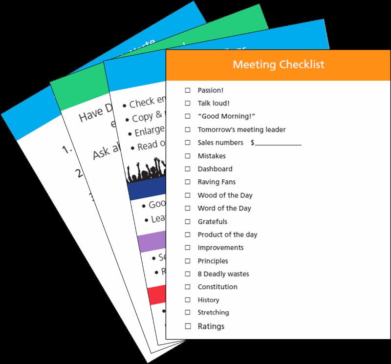 FastCap Morning Meeting Checklist