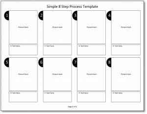 Simple 8 Step Process Template